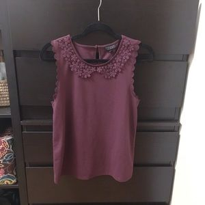 Topshop Peter Pan Crochet Collar Tank Top